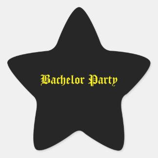 Junggeselle-Partyaufkleber Stern-Aufkleber