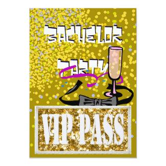 Junggesellegoldvip-Party Einladung