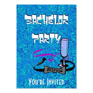 Junggesellehirsch-Party-Blaueinladung 12,7 X 17,8 Cm Einladungskarte