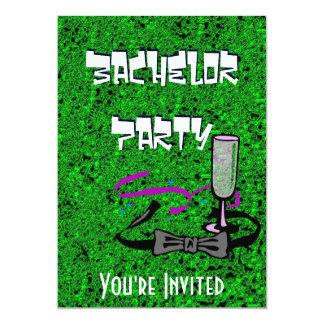 Junggesellehirsch-Party-Grüneinladung 12,7 X 17,8 Cm Einladungskarte