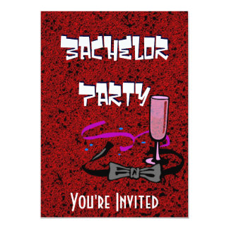 Junggesellehirsch-Party-Roteinladung 12,7 X 17,8 Cm Einladungskarte