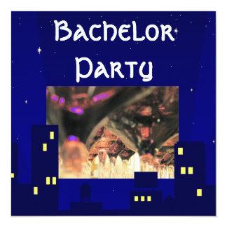 Junggesellehirsch-Party trinkt Cocktaileinladung Quadratische 13,3 Cm Einladungskarte