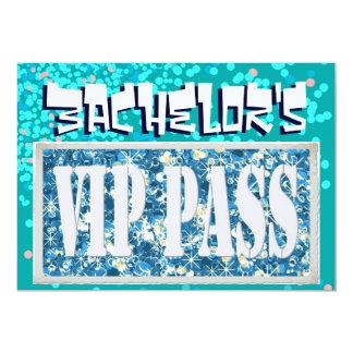 Junggesellen blaue vip-Party Einladung