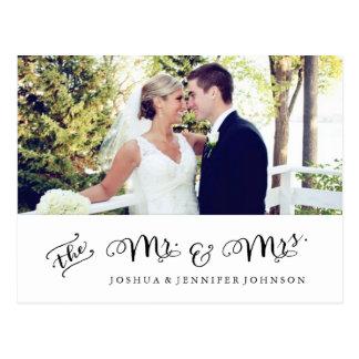 Jungvermählten danken Ihnen Notecard | Postkarte