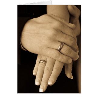 Jungvermählten-Hände Grußkarte