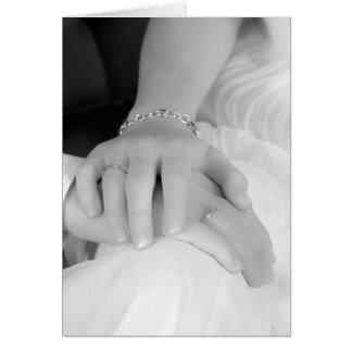 Jungvermählten übergibt II, Glückwünsche Karte