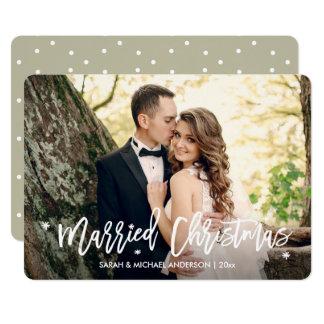 Jungvermählten-verheiratetes 12,7 X 17,8 Cm Einladungskarte
