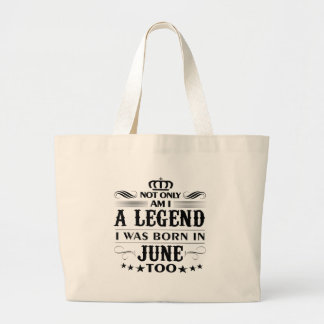 Juni-Monat Legendent-shirts Jumbo Stoffbeutel
