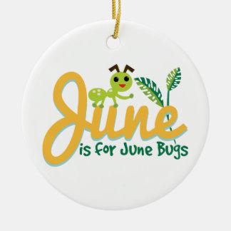 Juni-Wanze Rundes Keramik Ornament