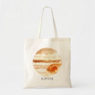 Jupiter-Planetwatercolor-Tasche Budget Stoffbeutel