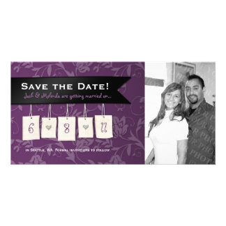 Justierbare Farbe: DIY Save the Date Foto-Karten Fotokarte