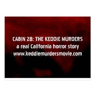Kabine 28: Das Keddie ermordet Horrorpostkarte Postkarte