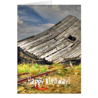 Kabine auf den Gleitern; Alles Gute zum Geburtstag Karte