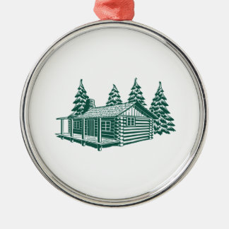 Kabine im Holz… Silbernes Ornament