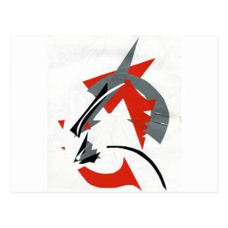 Kabuki Catzen Postkarte