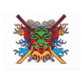Kabuki Maske Postkarte