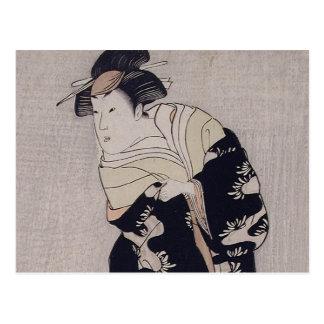 Kabuki Schauspieler Postkarte