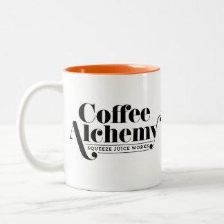 Kaffee-Alchimie-Tasse Zweifarbige Tasse