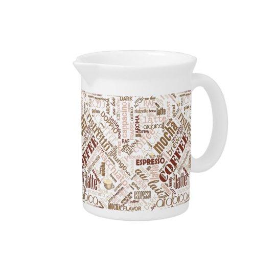 Kaffee auf Leinwand-Wort-Wolke Brown ID283 Krug