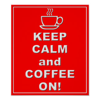 Kaffee auf Plakat