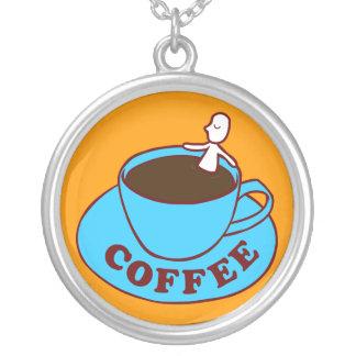 Kaffee-Bad-Halskette Halskette Mit Rundem Anhänger