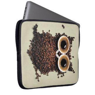 Kaffee-Eule Computer Sleeve Schutzhülle