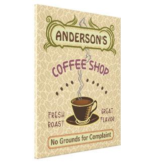 Kaffee-Geschäft mit Schale schaffen Ihr eigenes Gespannter Galerie Druck
