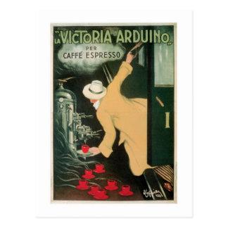 Kaffee-Getränk-Anzeigen-Kunst La-Victorias Arduino Postkarte