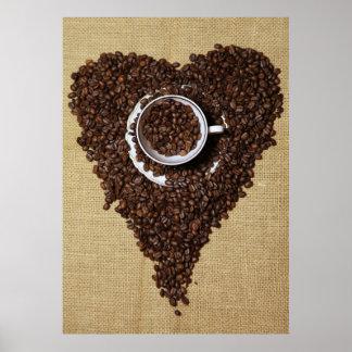 Kaffee Herz Poster