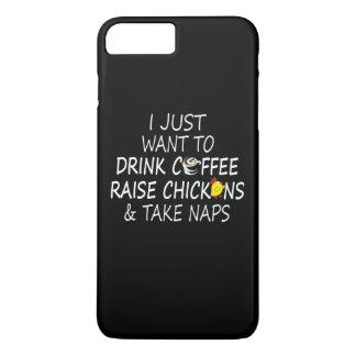 Kaffee, Hühner und Nickerchen iPhone 8 Plus/7 Plus Hülle