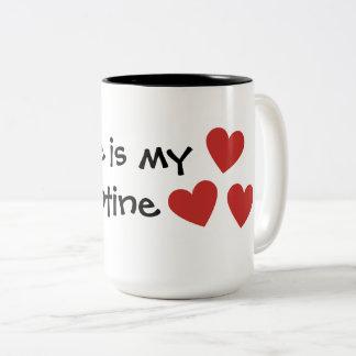 """Kaffee ist Tasse mein Valentine"" Valentines Tages"
