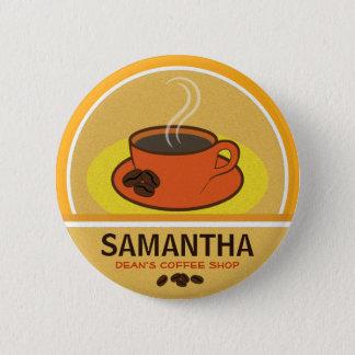 Kaffee-Kaffeetasse-Geschäfts-Café-Personal Runder Button 5,7 Cm