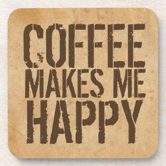 Kaffee macht mich glücklichen Kaffee-Liebhaber Untersetzer