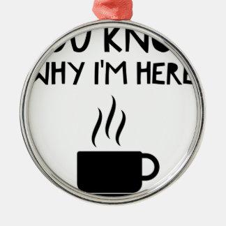 Kaffee OM anonymes betrunkenes Stipendium Silbernes Ornament