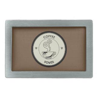 Kaffee-Power Rechteckige Gürtelschnallen