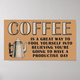 Kaffee-Produktivitäts-Plakat Poster