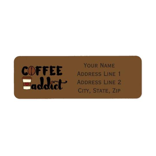 Kaffee-Süchtiger II - personifizieren Sie Kleiner Adressaufkleber