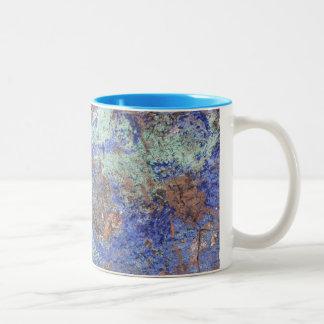 Kaffee-Tasse--Blaues Kupfer Zweifarbige Tasse