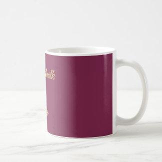 Kaffee-Tasse mit einer Mitteilung Tasse