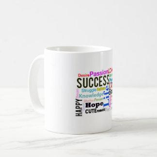 Kaffee-Tassen-Text-Foto Tasse