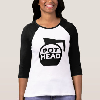 Kaffee-Topf-Kopf-lustiges Koffein-Shirt Shirts