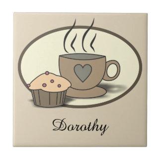 Kaffee-und Muffin-kundenspezifische Fliesen für