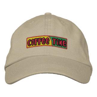 Kaffee-Zeit gestickter Hut Bestickte Mützen