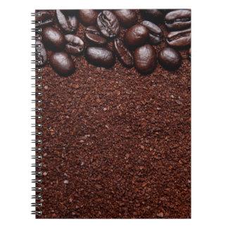 Kaffeebohnen - kundengebundene Vorlagen Java Bohne Spiral Notizblock