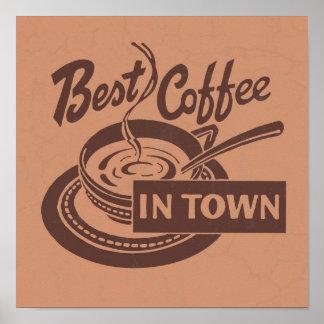 Kaffeestube-Wand-Kunst Poster