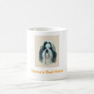 Kaffeetasse-Mutter Shih Tzu schlechte Gewohnheit Tasse