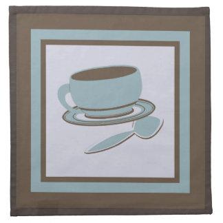Kaffeetasse u. Löffel Stoffserviette
