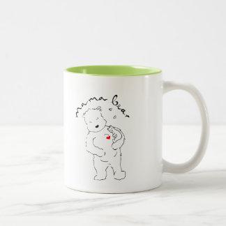 Kaffeetasse Zwei-Ton Mutter Bear
