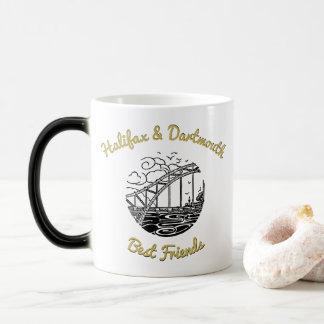 Kaffeeteeschale Halifax u. beste   Freunde Verwandlungstasse