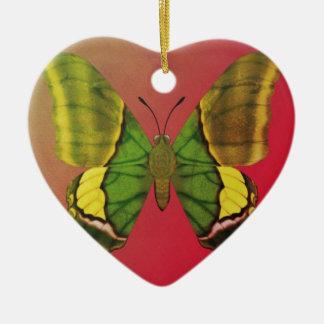 Kaiser von Indien-Schmetterling Keramik Herz-Ornament